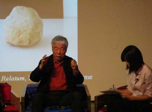 Lee Ufan talking at the KCC in March 2015