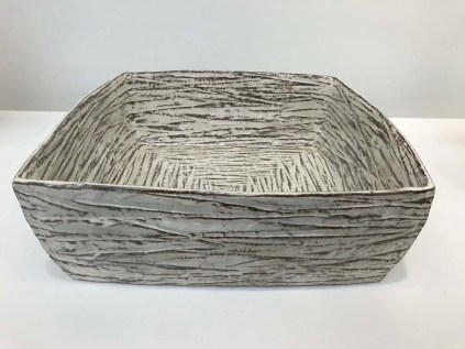 Square buncheong bowl by Jung Jae-hyo