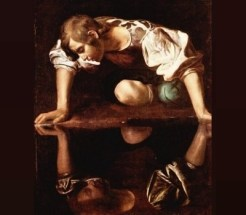 Admiring oneself: Narcissus by Caravaggio (1597-1599)