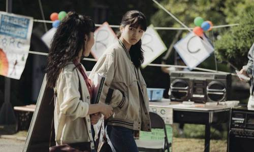 Yeon-hee (Kim Taeri, right) on her University campus
