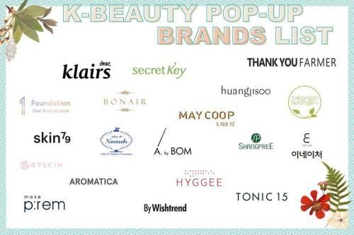 K Beauty brands at pop-up