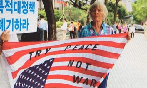 Try peace not war - Lindis Percy