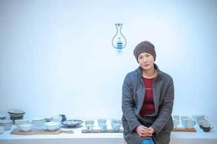 Kim Sun Mee at her Chollipo exhibition (photo: Insanjok / Instagram)