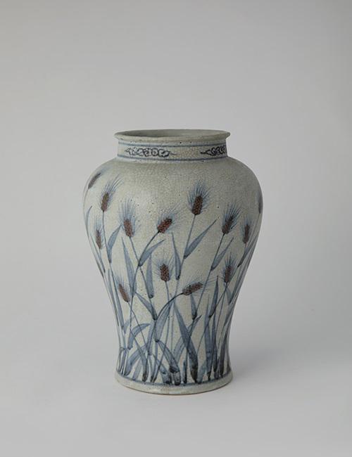 Soon-Tak Ji: White porcelain prunus vase