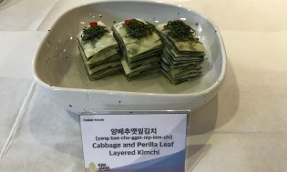 cabbage and sesmae leaf kimchi