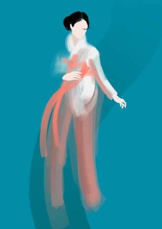 Hanbok design by Sunny Kim, Olivia Parker & Alice Walker. Illustration by Nataliya Grimberg