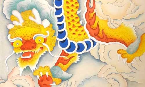 Minhwa dragon by Woo Sukja