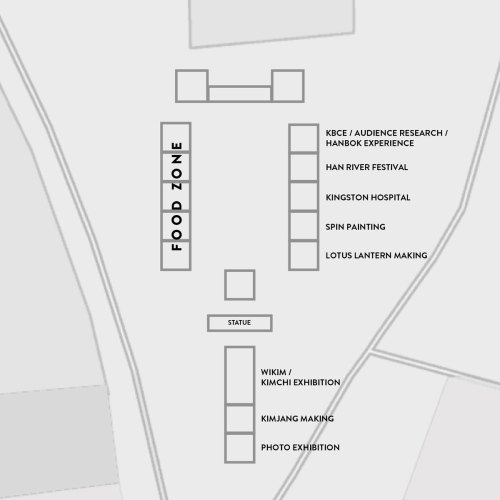 Kingston Korean Festival map
