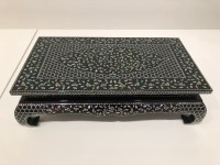 Bae Young-dal: peony and floral scroll-pattern Najeon table