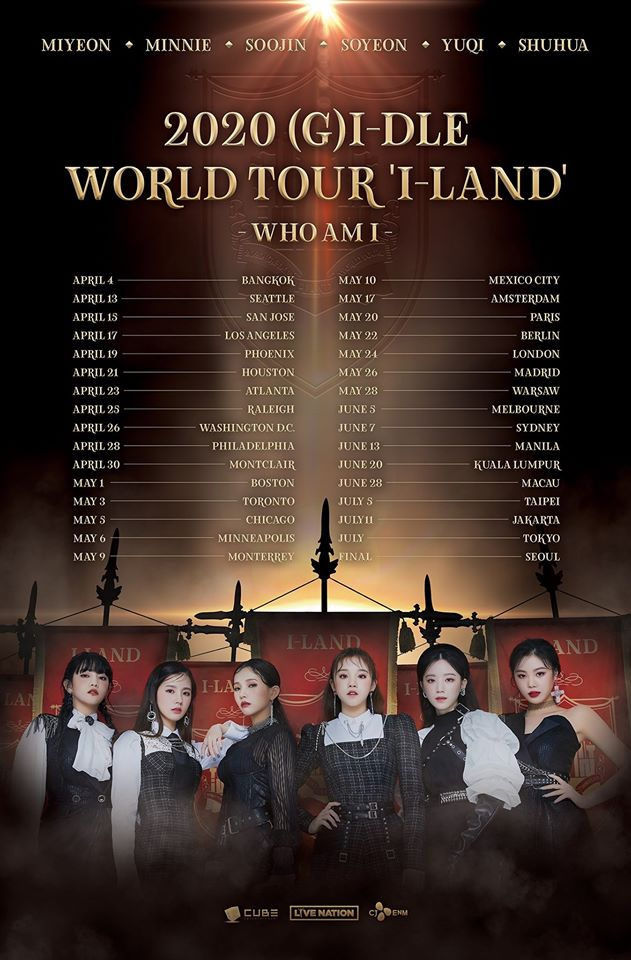 (G)I-DLE tour poster