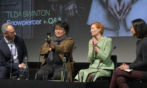 Bong Joon-ho and Tilda Swinton on Snowpiercer