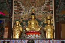 The Wooden Seated Amitabha Buddha inside the Daeungjeon