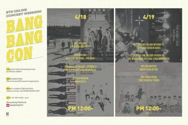 BTS Bang Bang Con poster