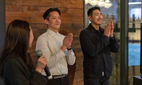 Joonhong Min (left) and Shinuk Suh