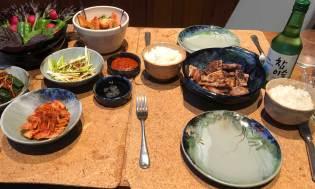 Samgyeopsal dinner