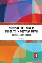 Cover artwork for book: Voices of the Korean Minority in Postwar Japan: Histories Against the Grain