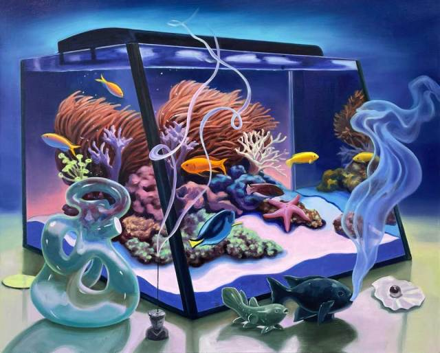 Minyoung Choi Still Life with Fish Tank