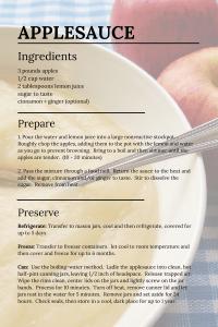 Applesauce Recipe London Ontario