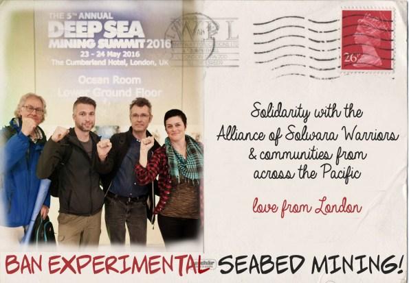 Seabed Mining Solidarity Postcard May 2016