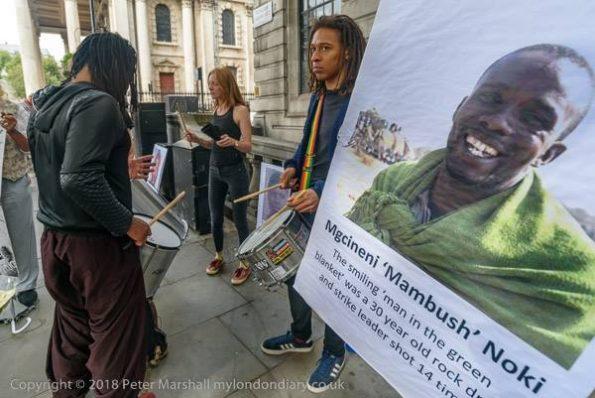 Solidarity vigil marking Marikana 7th anniversary