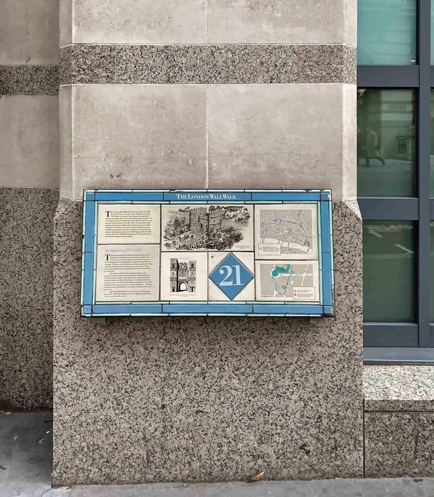 London Wall Walk - Plaque 21
