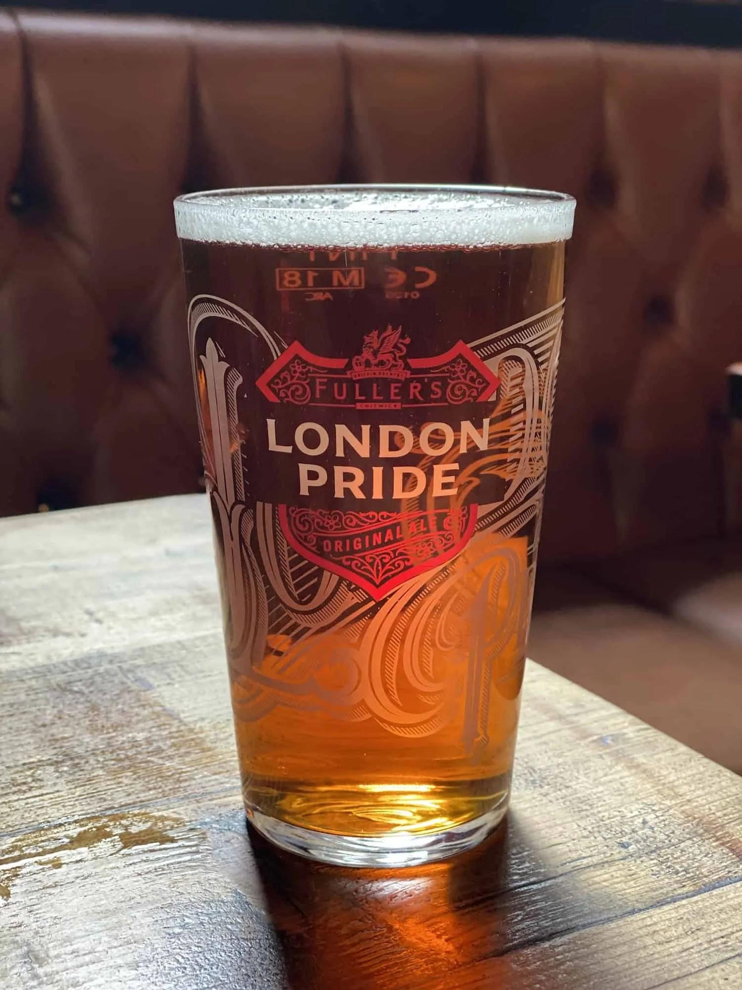 Top London Drinks - London Pride