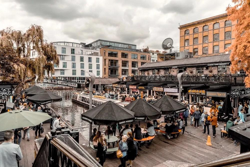 Camden Market - People Enjoying Food