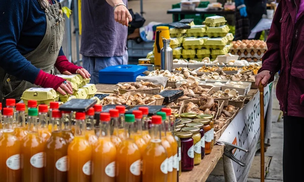 Other London Markets - Person Shopping Food Stall
