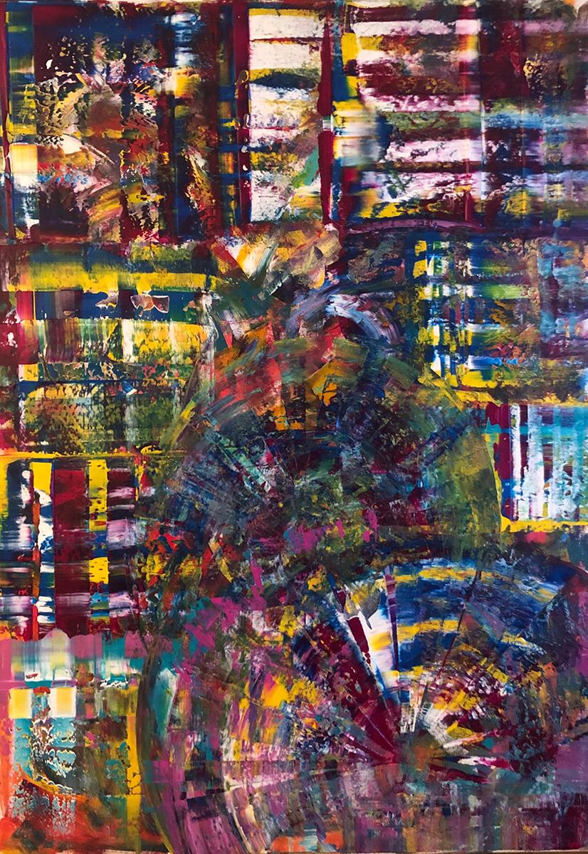 Snjezana Cirkovic - Enchanted Forest, 2020, Acrylic on Canvas, 80 cm x 100 cm © The Artist