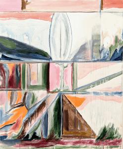 Andrew Cerami, Angel Diagram, 2021, Acrylic on canvas, 73.6 x 61 cm, 29 x 24 in, © The Artist