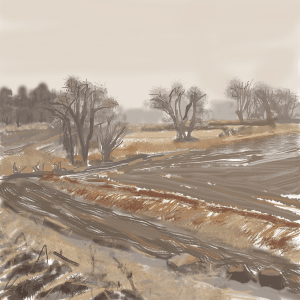 Caroline Leaf, Verrill Farm, 2020, Digital painting, © The Artist