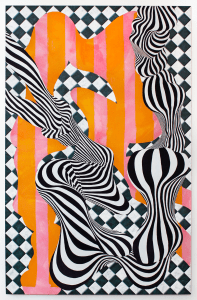 Love Terins, Flexur, 2020, Tempera, oil and acrylic on canvas, 210 x 135 cm, 82.6 x 53 in, © The Artist