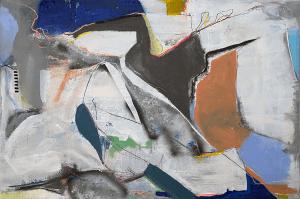 Lu Villanueva, A03, 2020, Mixed media on canvas, 120 x 90 cm, © The Artist