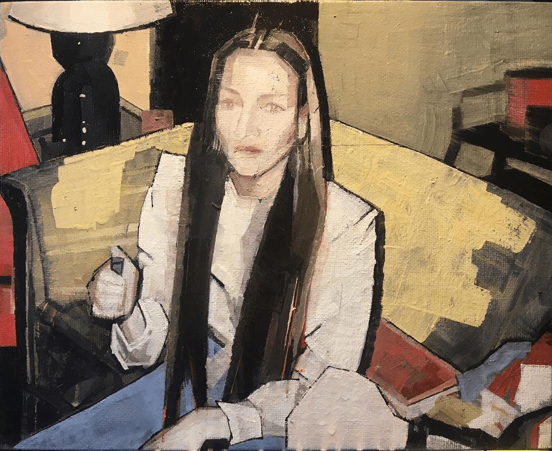Sian Wroe Jones, South Wales 1980s, 2020, Oil on canvas board, 20 x 25.4 cm, 8 x 10 in, © The Artist