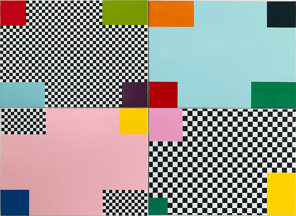 Ashley Collin Untitled (Quadriptych States), 2020 Oil on canvas 40.6 x 50.9 cm x 4 Panels £1,500 © The Artist