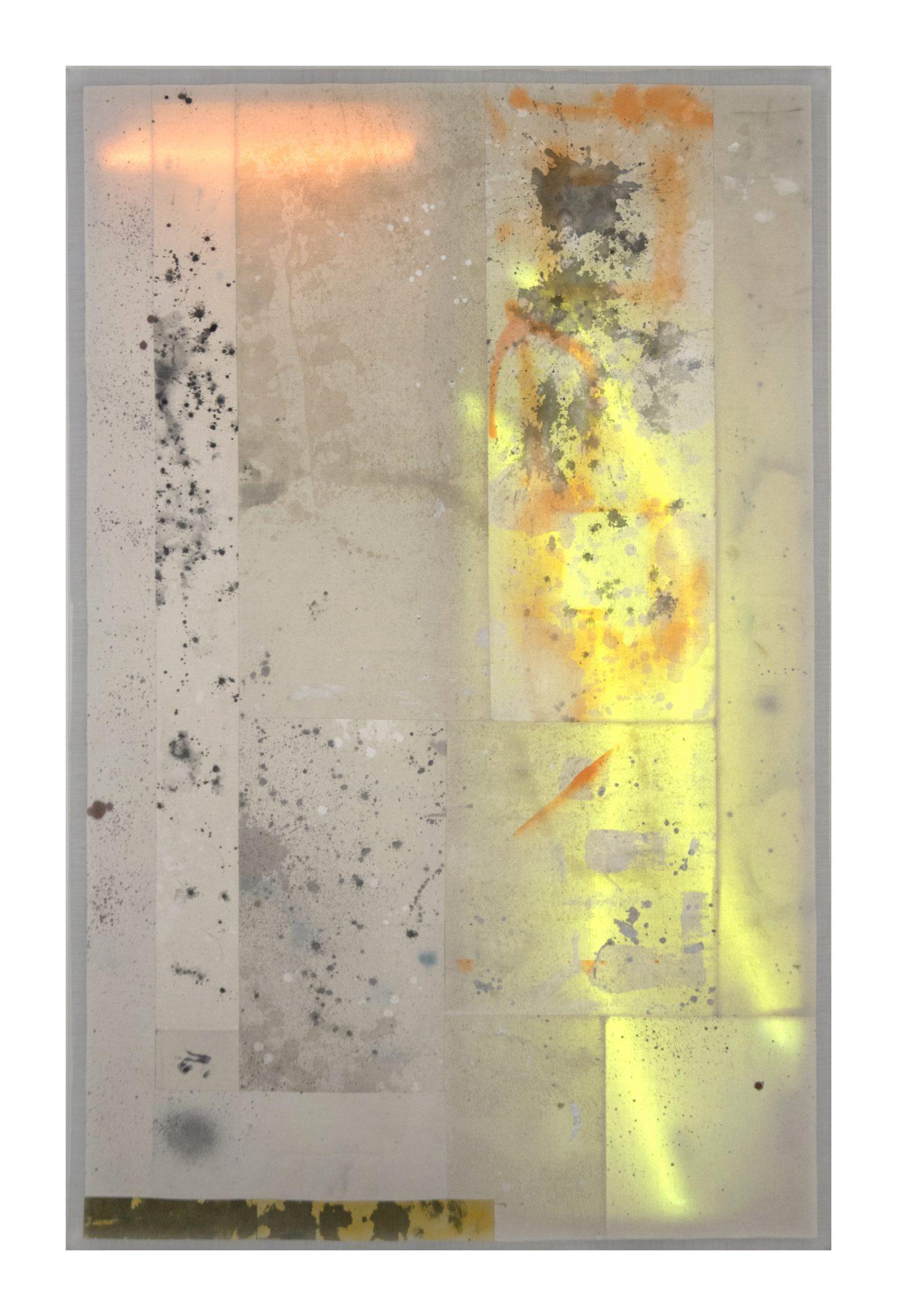 Ignacio Alvaro, Tiger Uppercut, 2021, Mixed media on sewn canvas, neon lights, 157 x 101 cm, Price Available Upon Request, © The Artist
