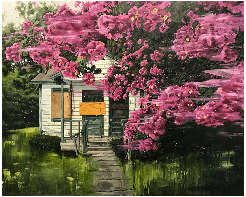 John Mulvany, Bloom, 2019, Oil on canvas, 122 x 152 cm, £2,800, © The Artist