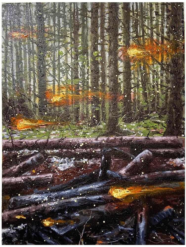 John Mulvany, Lit Up, 2021, Oil on canvas, 41 x 30 cm, £800, © The Artist