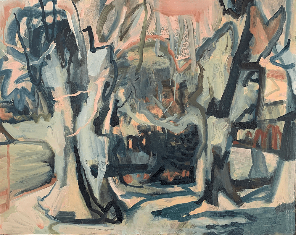 Lucy Threlfall, Old Friends, 2021, Oil on canvas, 61 x 76 cm, Price Available Upon Request, © The Artist