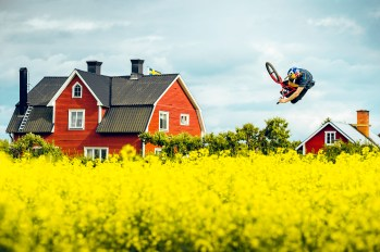 Dawid Godziek jumping over the rapes at the Imagination Park in Uppsala, Sweden on July 14, 2016 // Adam Klingeteg / Red Bull Content Pool // For more content, pictures and videos like this please go to www.redbullcontentpool.com.