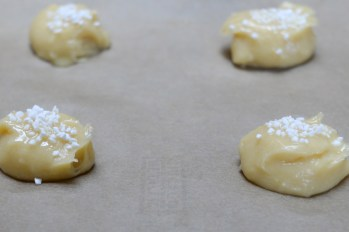 Chouquettes ready for the oven. Credit: Copyright 2016 Kathy Hunt