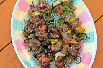 Oregano and Citrus Zucchini. Summer zucchini pairs beautifully with chicken for succulent and well-seasoned kebabs, using a marinade of olive oil, garlic, oregano and citrus. Credit: Copyright 2016 Rinku Bhattacharya