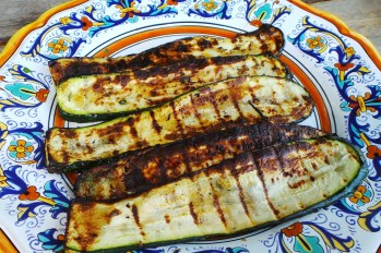 Grilled marinated zucchini slices. Credit: Copyright 2016 Clifford A. Wright