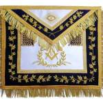 Grand Master Mason Apron Bullion Hand Embroidered Vine Work