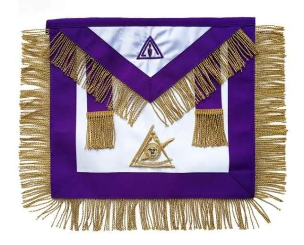 Masonic Council Past Illustrious Master Apron Hand Embroidered