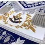 Masonic Grand Lodge Past Master Apron Gold & Silver Hand Embroidery 02