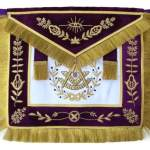 Masonic Grand Lodge Past Master Apron Hand Embroidered