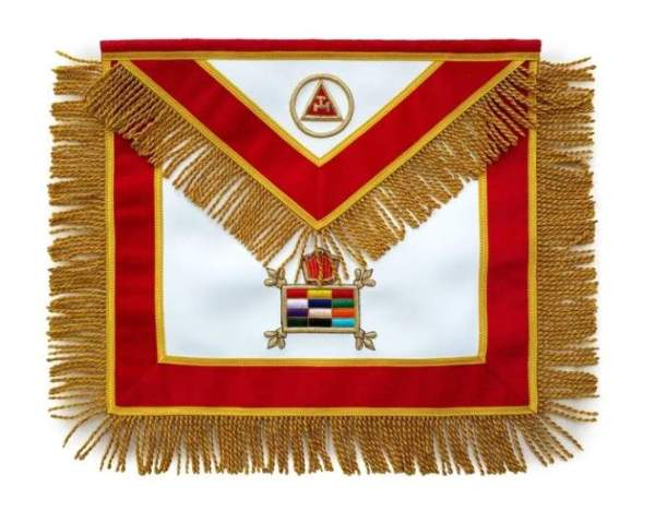 Masonic Massachusetts Chapter Apron Hand Embroidered