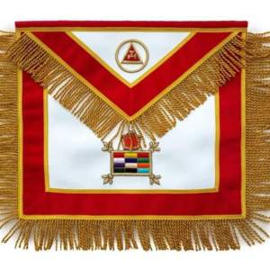 Masonic Massachusetts Chapter Apron Hand Embroidered