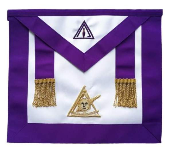 Masonic Past Thrice Illustrious Master Apron PTIM Hand Embroidered